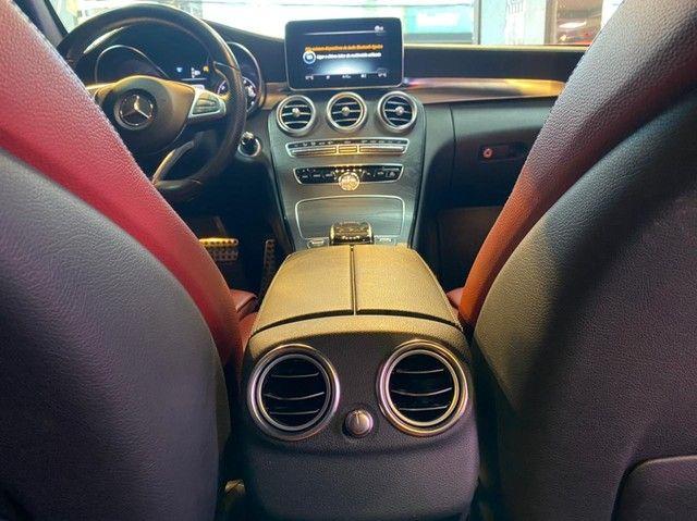 Mercedes C250 Sport, 2015, interior vermelho, blindada nível 3A, configuração Linda  - Foto 7