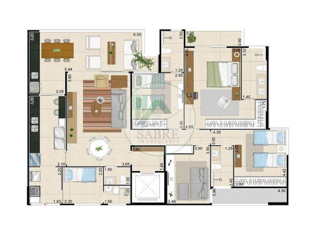 Apartamento 3 suíte a venda, Condomínio Living Garden, Próximo ao Parque do Cocó, Fortalez - Foto 3