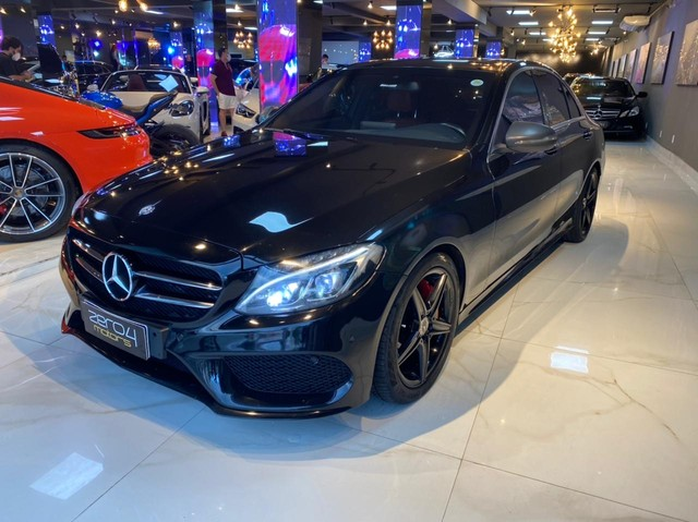Mercedes C250 Sport, 2015, interior vermelho, blindada nível 3A, configuração Linda  - Foto 4