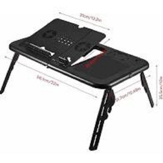 Mesa Para Notebook Dobrável Portátil Articulada Com Cooler - Foto 5