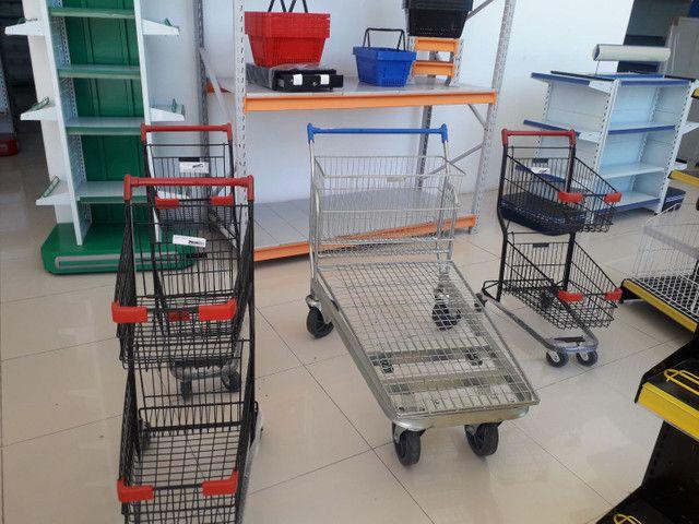 Carrinho de mercado e cesta anderson * - Foto 3