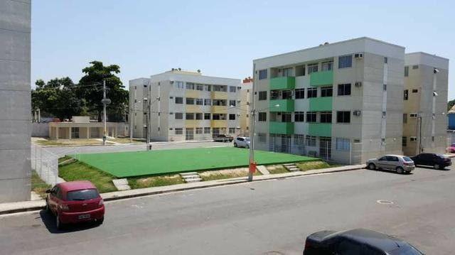 Apartamento 2Qts com varanda em Mesquita, aceito financiamento caixa - Foto 3