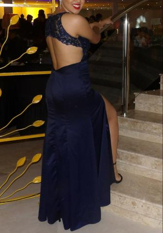 Olx vestido de madrinha azul marinho