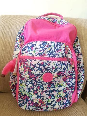 f8bc67687 Mochila Kipling Escolar Rosa Meninas Notebook Nova Original Seoul Go Floral