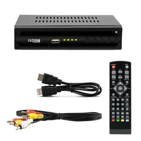 Conversor TV Digital ISDB-T 1080p Full HD Hdmi Rca USB Gravador