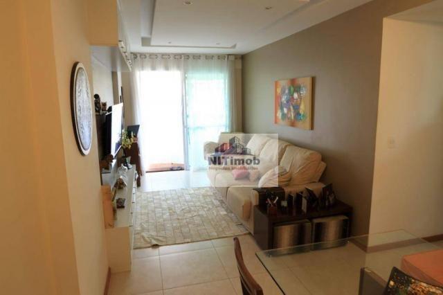 Excelente apartamento 3 quartos, frente, andar alto, parcialmente mobiliado, lazer complet - Foto 2