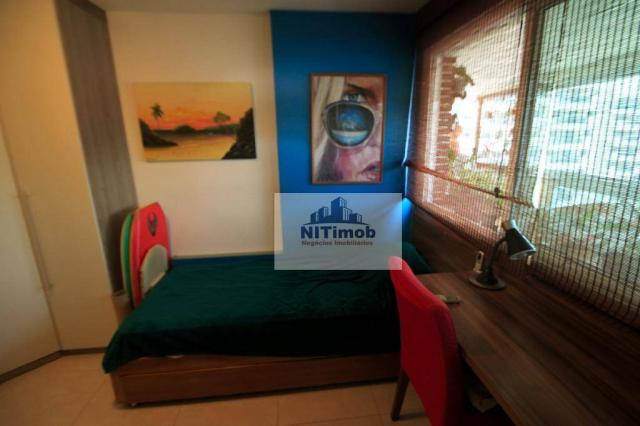 Excelente apartamento 3 quartos, frente, andar alto, parcialmente mobiliado, lazer complet - Foto 19