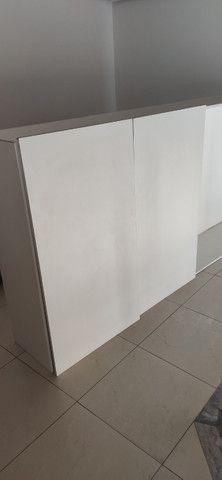 Armário cozinha MDF branco 4 portas - Foto 2
