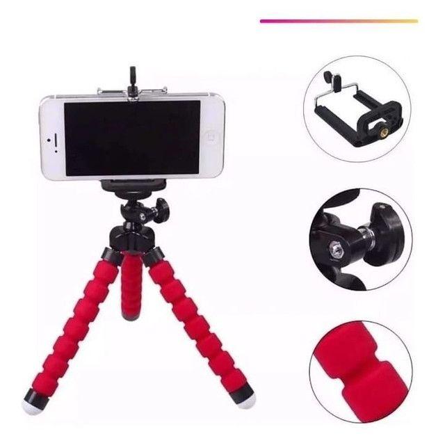 Mini Tripé Flexível  Celulares E Câmeras  Suporte Universal - Foto 2