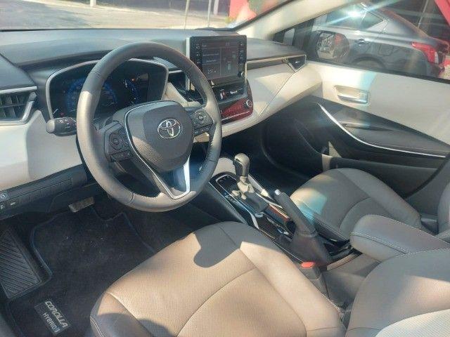 469. Corolla Altis Premium 1.8 Hybrid 2021 - 4.000 km - Blindado com Teto Solar - Foto 10