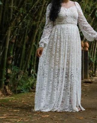 Vestido branco para pré wedding ou casamento