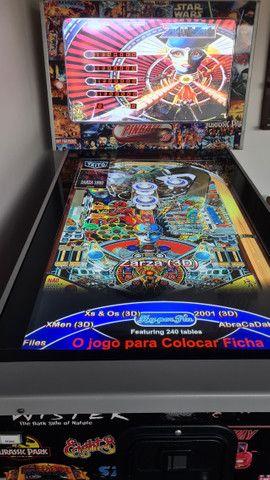 Fliperama Pinball Arcade - 240 jogos - Excelente estado  - Foto 3