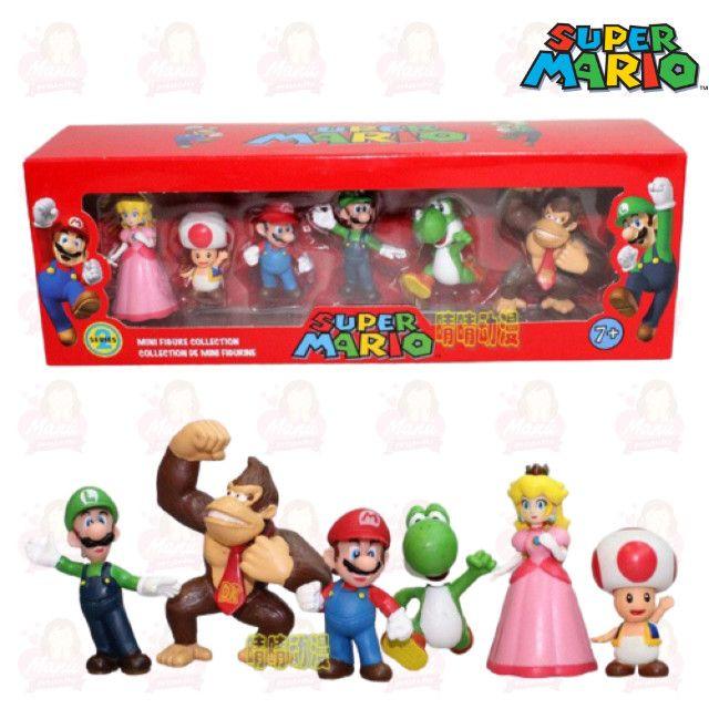 Kit Mário PVC/Plástico miniaturas com 6 personagens - Foto 4