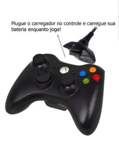 Bateria Para Controle Xbox 360 Com Cabo E Carregador Preto - Foto 2
