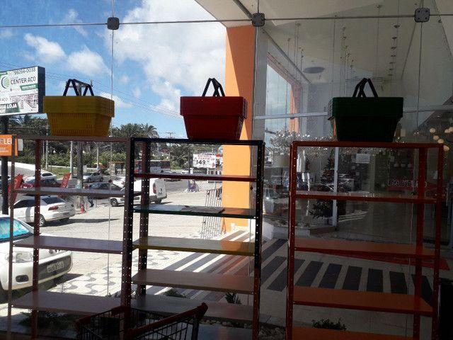Carrinho de mercado e cesta anderson * - Foto 4