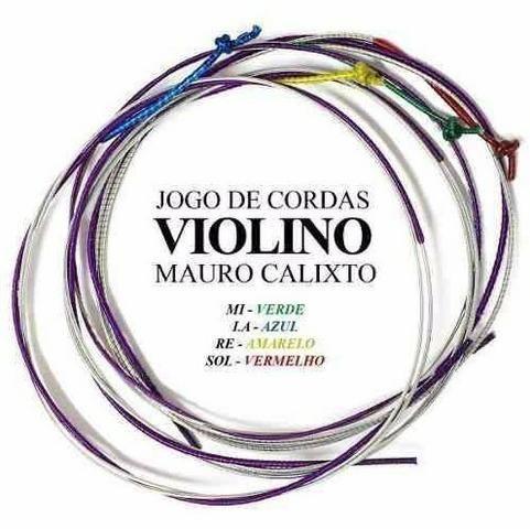 Jogo De Cordas Mauro Calixto Para Violino 4/4 Excelente