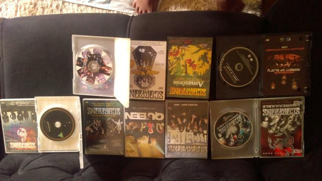 Dvd's de Rock (Scorpions, Queen e Red hot chilli peppers)