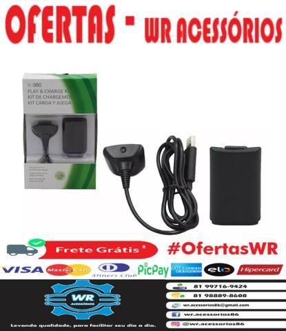 Cabo Carregador + Bateria Xbox 360 - ENTREGA GRÁTIS