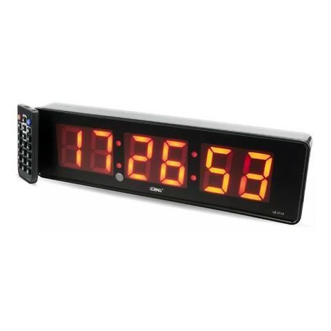 Relógio e Cronômetro Digital de Parede Mesa Led LE-2113 Lelong com Controle Remoto Timer - Foto 3