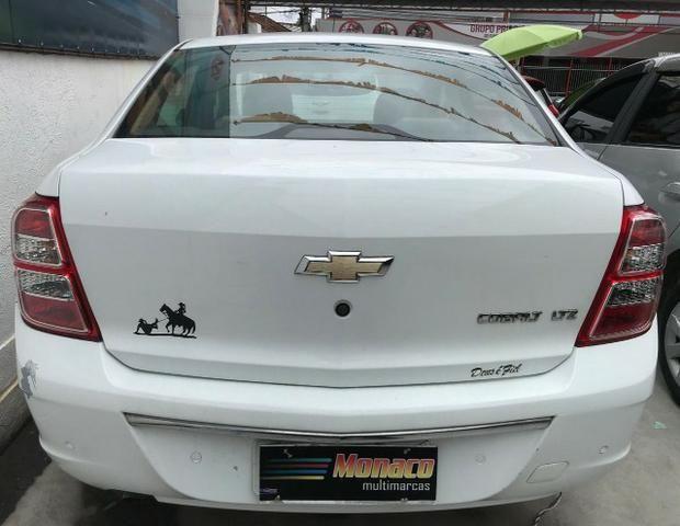 Chevrolet Cobalt ltz 1.4 completo c/ multimídia _ peq entrada + 48x 669,99 fixas - Foto 2