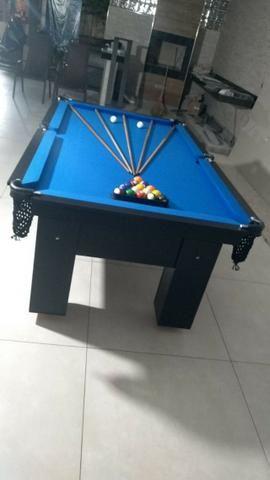Mesa Charme e Jantar Cor Preta Tecido Azul Mod. HHCE6425 - Foto 3