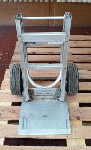 Carrinho carga dobrável em alumínio Drimec Semi-novo - Foto 4