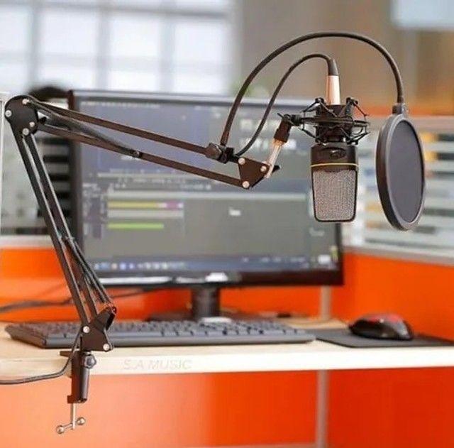Suporte Pedestal Articulável Para Microfone Knup Kp-m0017O