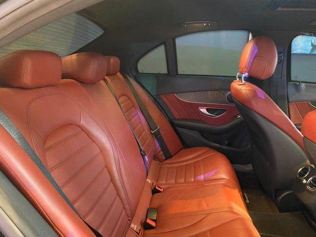 Mercedes C250 Sport, 2015, interior vermelho, blindada nível 3A, configuração Linda  - Foto 15