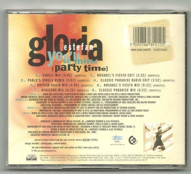 CD - Gloria Estefan -  You'll be mine (party time) - Foto 2