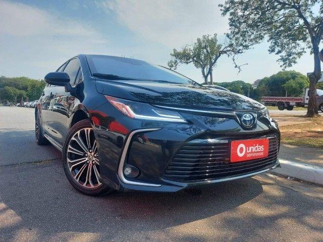 469. Corolla Altis Premium 1.8 Hybrid 2021 - 4.000 km - Blindado com Teto Solar - Foto 3