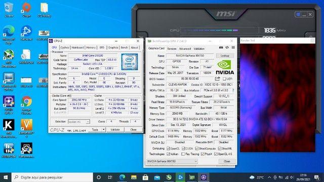 Notebook Gamer 2am CPU de desktop 4cores 3.6ghz 16gb ram Geforce MX150 2gb(=gt1030 GDDR5) - Foto 2