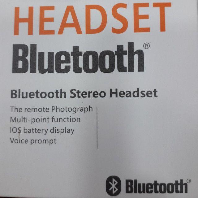Headset Stereo Bluetooth, na caixa... - Foto 2
