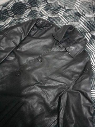 Jaqueta em couro legítimo cemi nova.