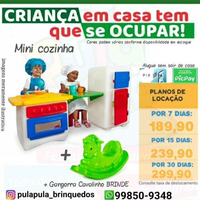 Aluguel brinquedos de playground para a diversão dos pequeninos por 7, 15 ou 30 dias - Foto 2