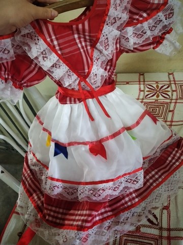 Vestido junino usado apenas uma única vez no ano passado - Foto 3