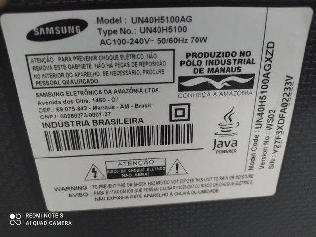Tv Samsung 43 (tela trincada) - Foto 2