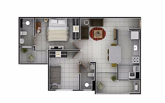 Apartamento 2 quartos, 63 m² na 506 Norte - Residencial Mandela - Foto 12