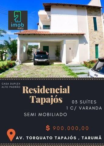 Residencial Tapajós linda casa com 3 suítes piscina e edícula (aceita financiar)