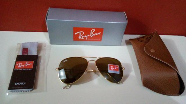 41d2a121a Óculos de sol Ray Ban Aviador Unissex Novo Frete grátis - Foto 5