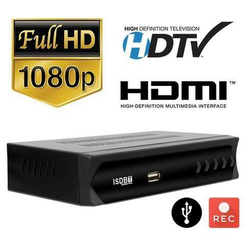Conversor TV Digital ISDB-T 1080p Full HD Hdmi Rca USB Gravador - Foto 2