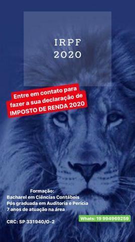 Declaração de Imposto de Renda Pessoa Física 2020