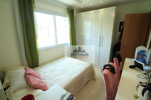 Excelente apartamento 3 quartos, frente, andar alto, parcialmente mobiliado, lazer complet - Foto 13