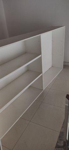 Armário cozinha MDF branco 4 portas - Foto 4