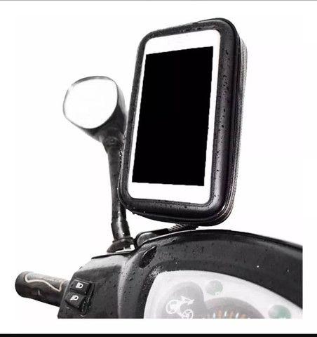 Suporte Smartphone Gps Tela 6,3 Polegadas Para Moto Biz Impermeável - Foto 2