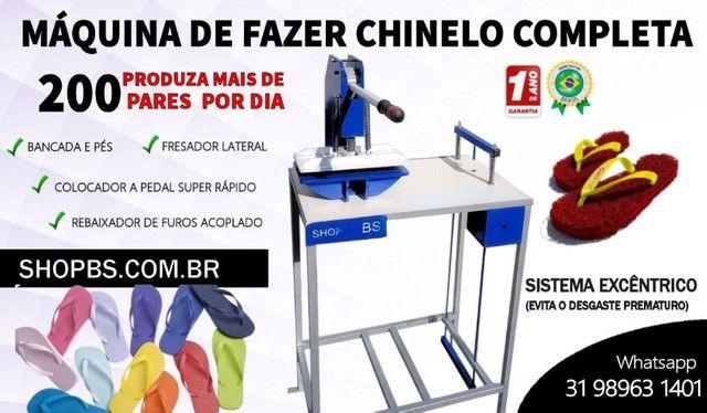 Maquina de fabricar chinelo Manual Completa - Shopbs.com.br - Foto 2