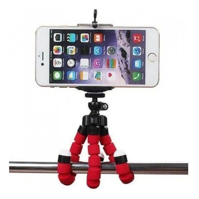 Mini Tripé Flexível  Celulares E Câmeras  Suporte Universal - Foto 4