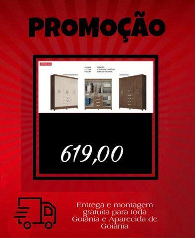 Mega promoção guarda roupa 6 portas