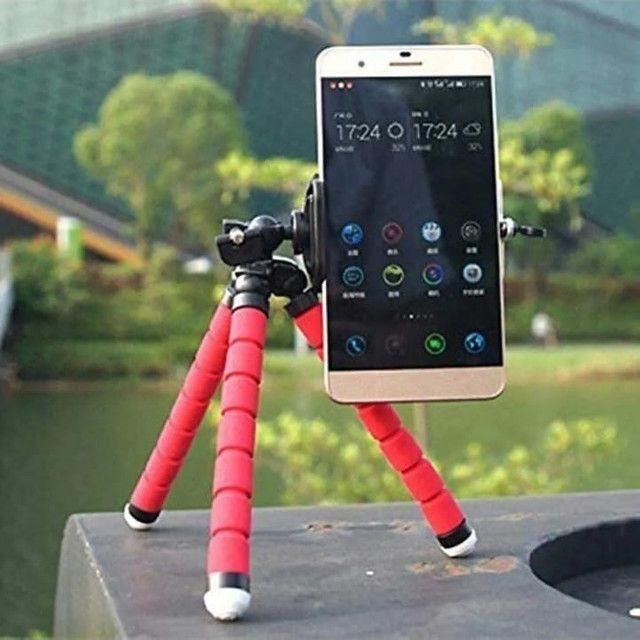 Mini Tripé Flexível  Celulares E Câmeras  Suporte Universal - Foto 5