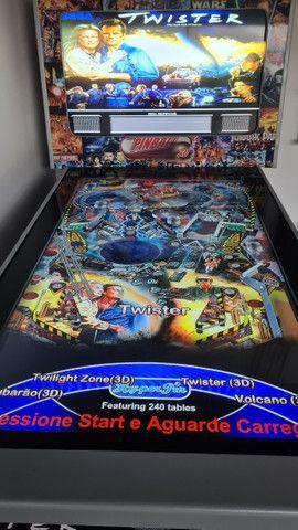 Fliperama Pinball Arcade - 240 jogos - Excelente estado  - Foto 5