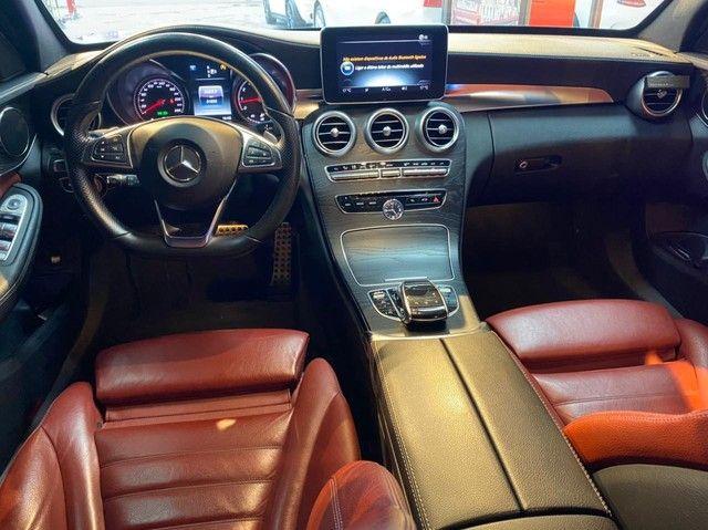 Mercedes C250 Sport, 2015, interior vermelho, blindada nível 3A, configuração Linda  - Foto 6